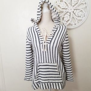 Citizen of humanity size L striped hoodie sweater